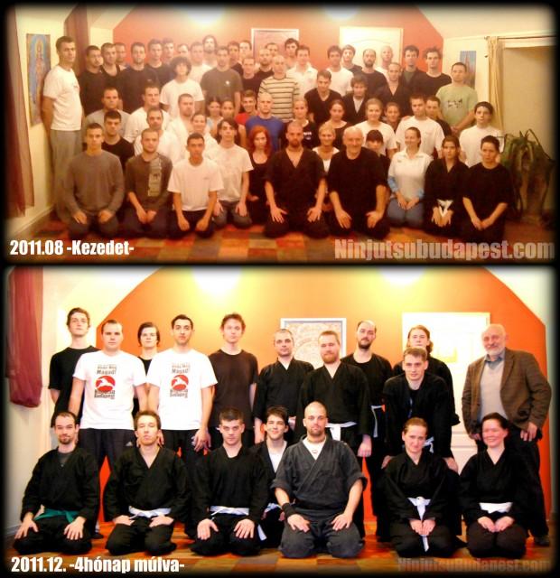 Ninjutsu önvédelem tanfolyam Budapesten 2011 előtte-utána