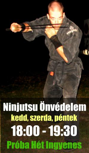 Ninjutsu Önvédelem Edzés Budapest