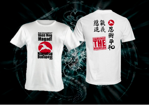 Ninjutsu Önvédelem Póló. BhimaClan 2012 eddző/utcai trikó