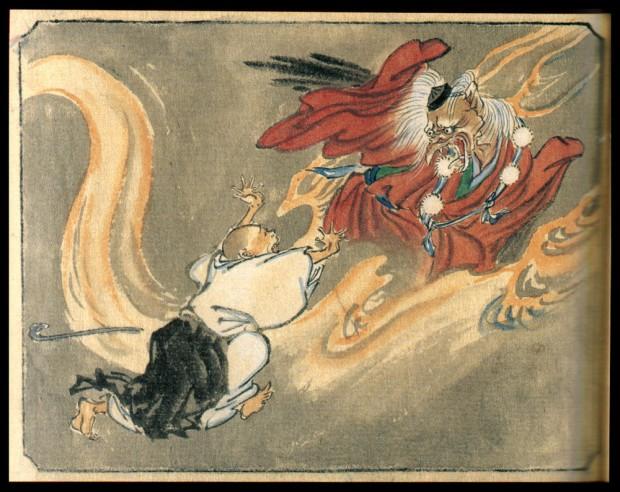 Tengu-madárember, Japán Démonok, akiktől a Ninjutsut származtatják: