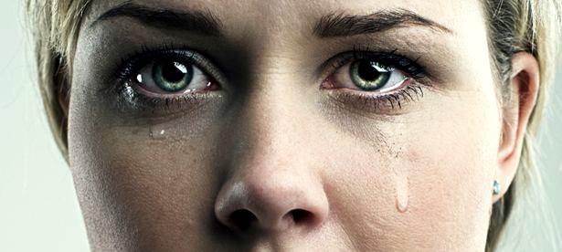 Teacher crying
