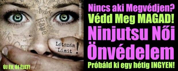 Ninjutsu Női Önvédelem Új év Új élet!