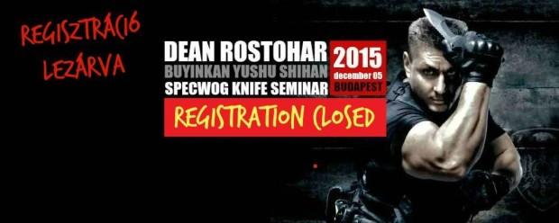 specwogbudapest késharc szeminárium Dean Rostoharral